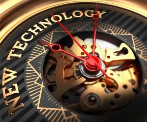 New Technology on Black-Golden Watch Face.